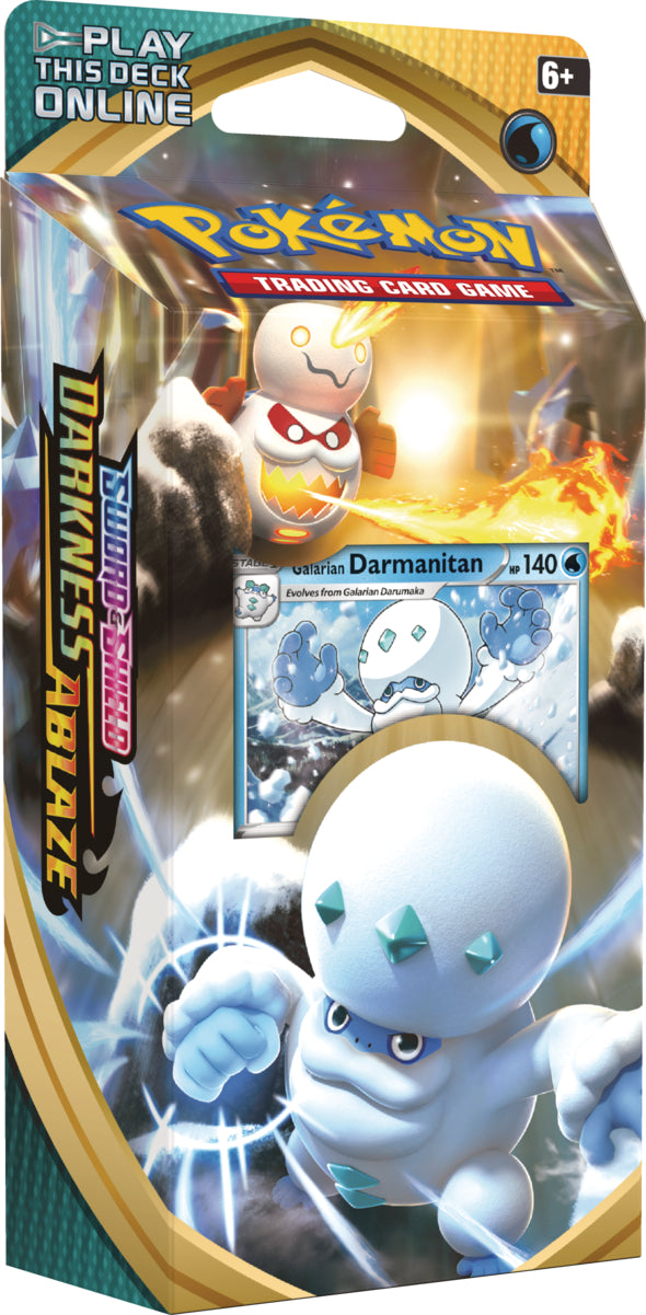 Pokemon: Sword & Shield—Darkness Ablaze Galarian Darmanitan Theme Deck (Preorder) | Gamers Grove