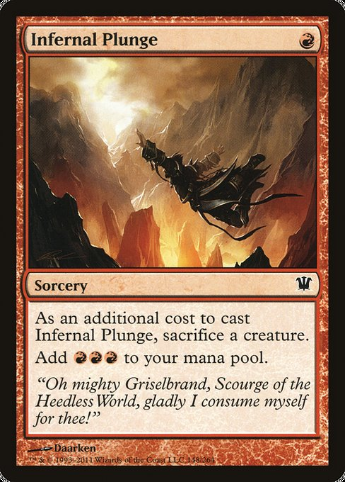 Infernal Plunge [Innistrad] | Gamers Grove