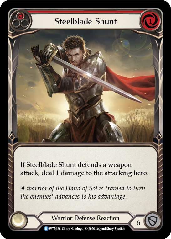 Steelblade Shunt (Red) [WTR126] Unlimited Edition Rainbow Foil | Gamers Grove