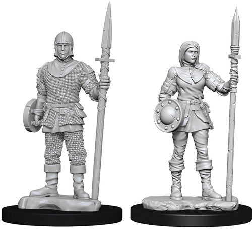WizKids Deep Cuts Unpainted Miniatures: Guards | Gamers Grove