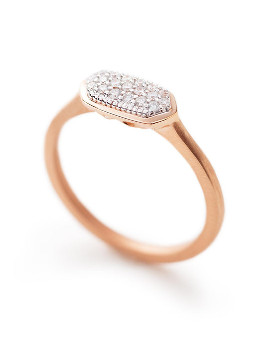 Isa Ring In Pave Diamond And 14k Rose Gold