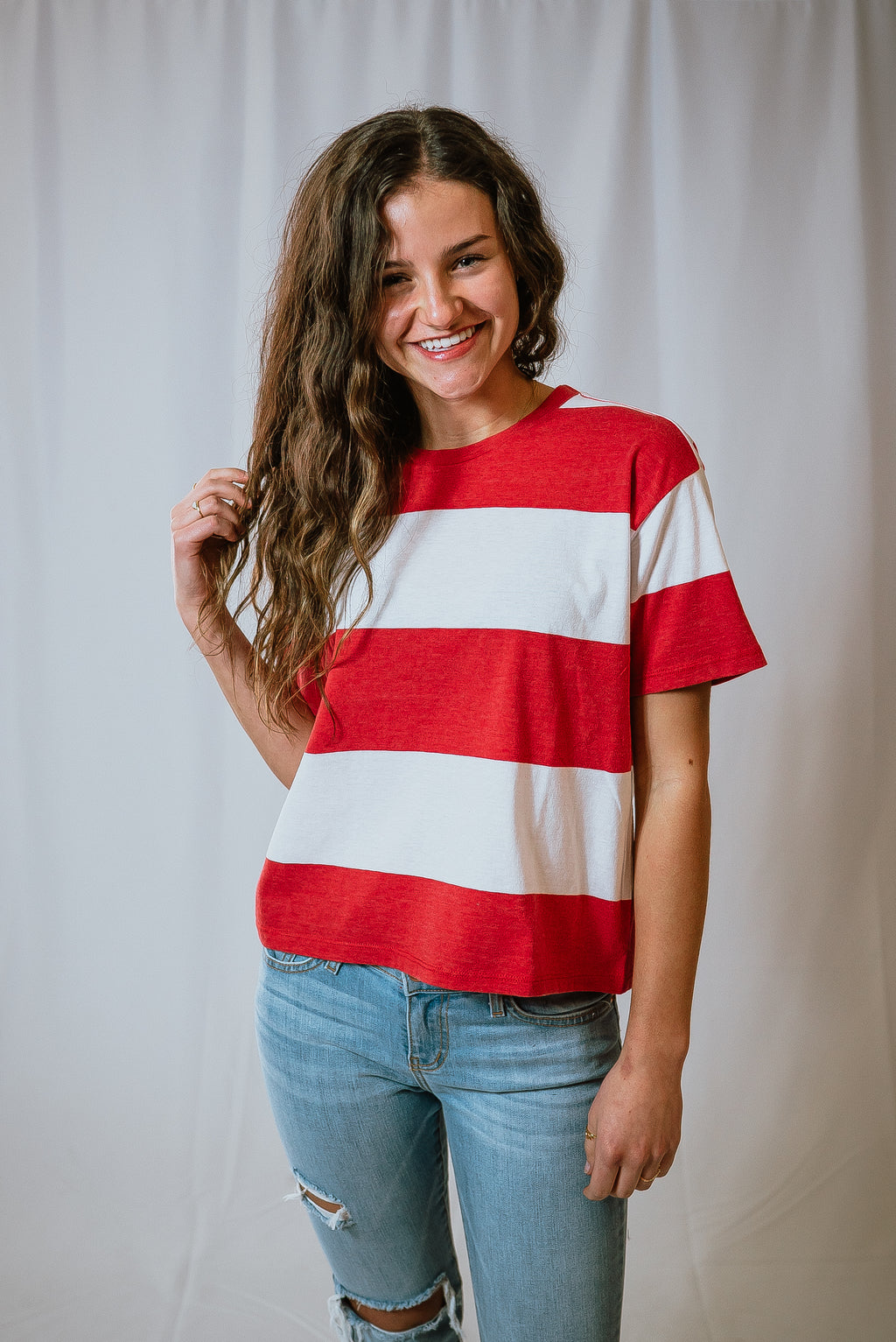 Maddox Striped Crew Tee