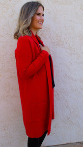 Dena Cardigan in Red