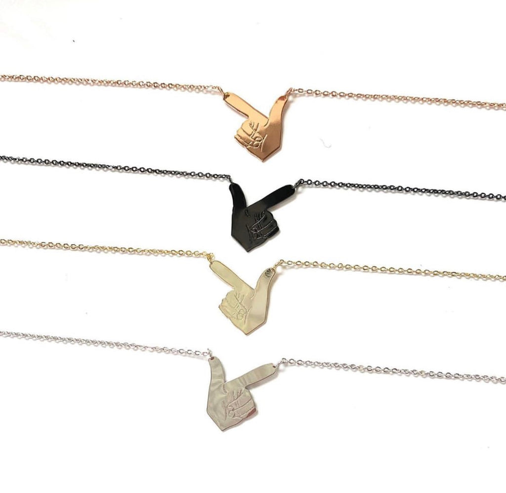 guns up necklaces