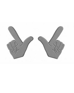 Guns Up Stud Earrings