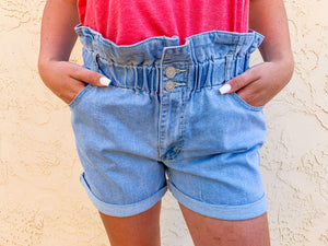 That's So 70's Denim Shorts in Light Wash