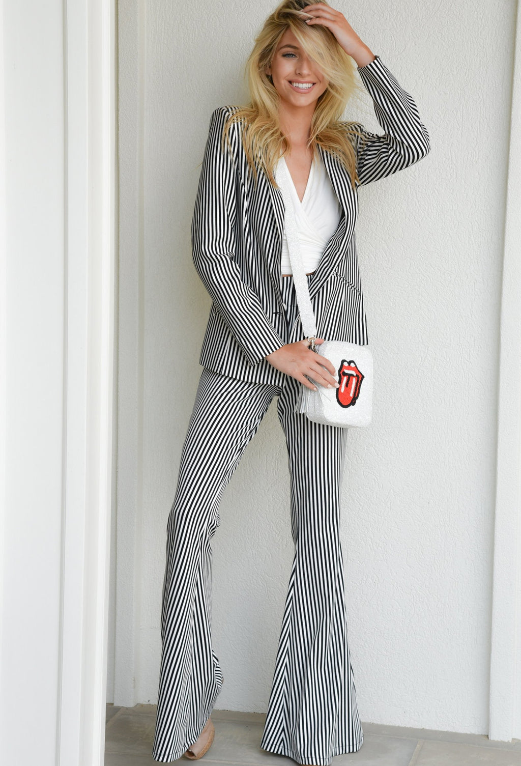 March Stripe Bell Bottoms