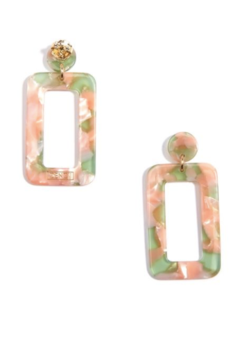 Rectangular Drop Earrings