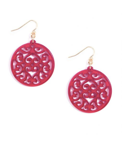 Swirled Circle Drop Earrings