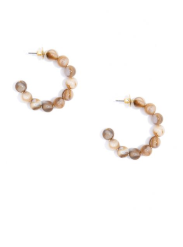 Mini Beaded Hoop Earrings