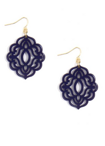 Baroque Resin Drop Earrings