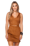 Steevie Cut Out Suede Dress