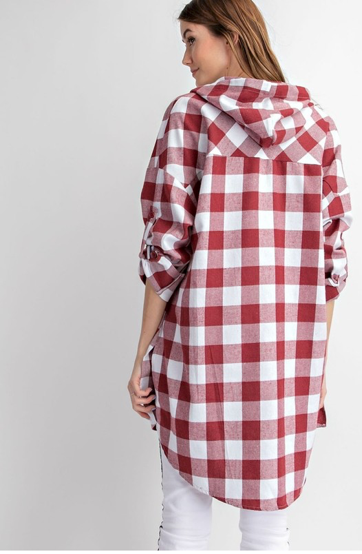 Cozy Plaid Button Down Top