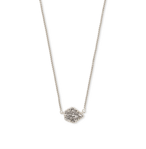 Tess Silver Small Pendant Necklace