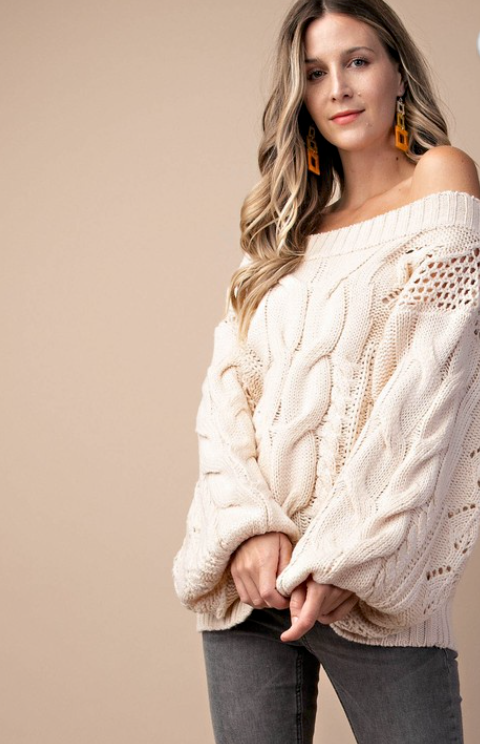 Kori Cable Knit Sweater