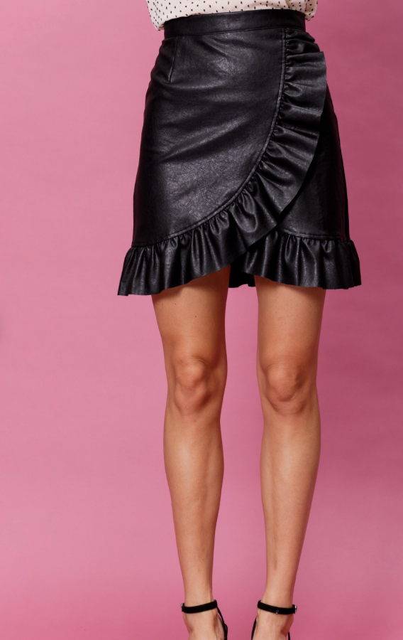 Broadway Leather Skirt