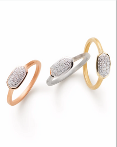 Isa Ring In Pave Diamond And 14k Yellow Gold