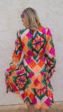 Jewel Geo Print Dress