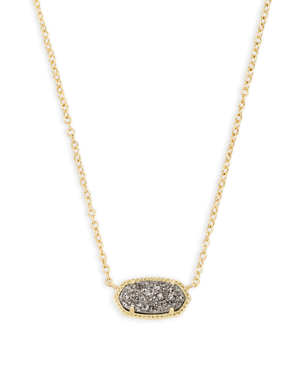 Elisa Gold Pendant Necklace in Drusy