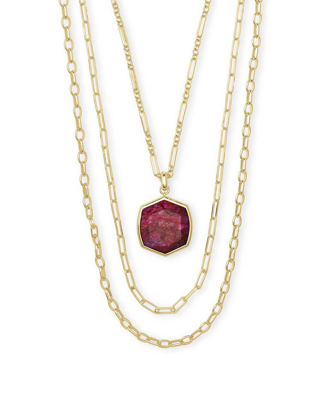Davis Gold Multistrand Necklace