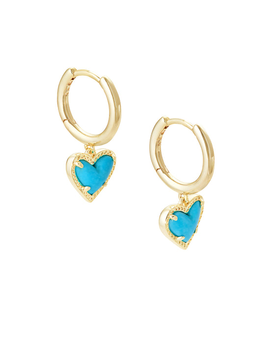 Ari Heart Gold Huggie Earrings