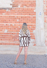 Zebra Wrap Sweater Dress