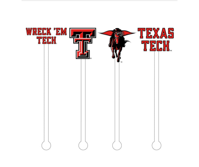 Texas Tech Reusable Stir Sticks Set
