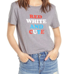 Red, White and Cute Tee