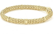 Caviar Gold 6mm Beaded Bracelet w/ 7 Smooth Bars