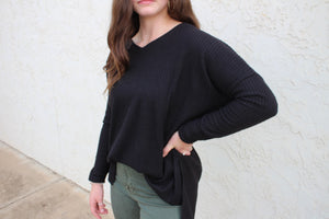 Bonnie Brushed Thermal Waffle Knit Top