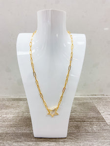 Chainlink Screw Clasp Necklace