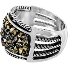 Crystal Rocks Band Ring