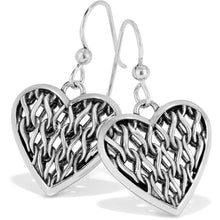 Delicate Memories Heart French Wire Earrings