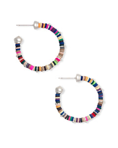 Reece Bright Silver Small Hoop Earrings