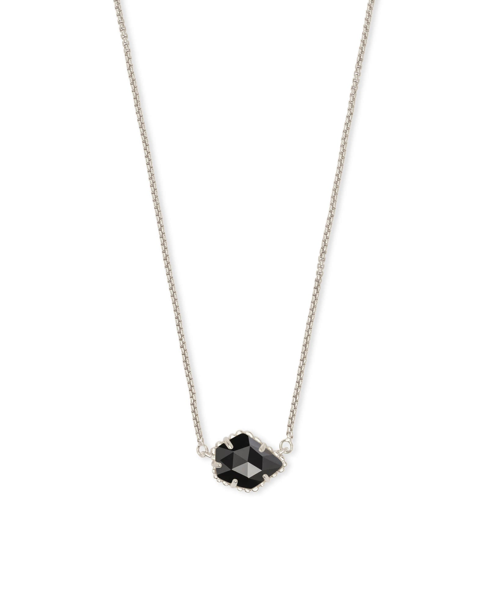 Tess Pendant Necklace in Black