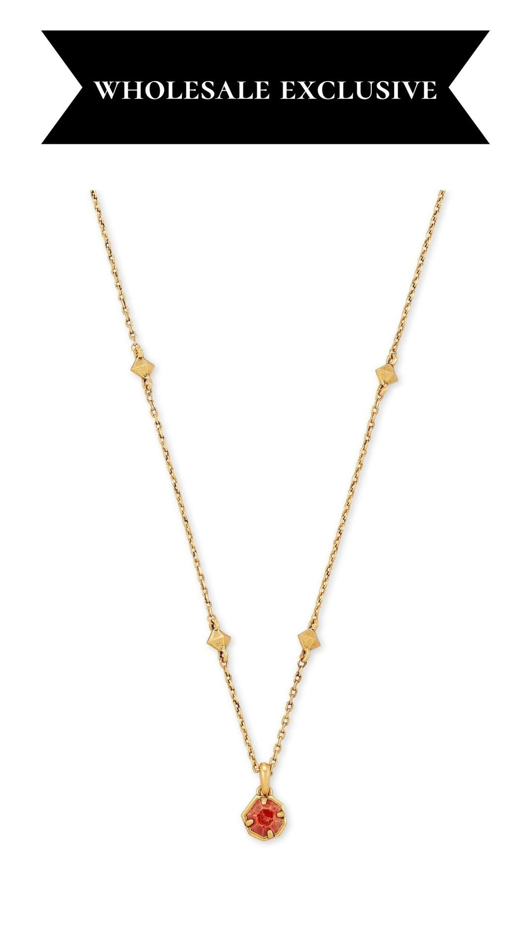 Nola Vintage Gold Short Pendant Necklace