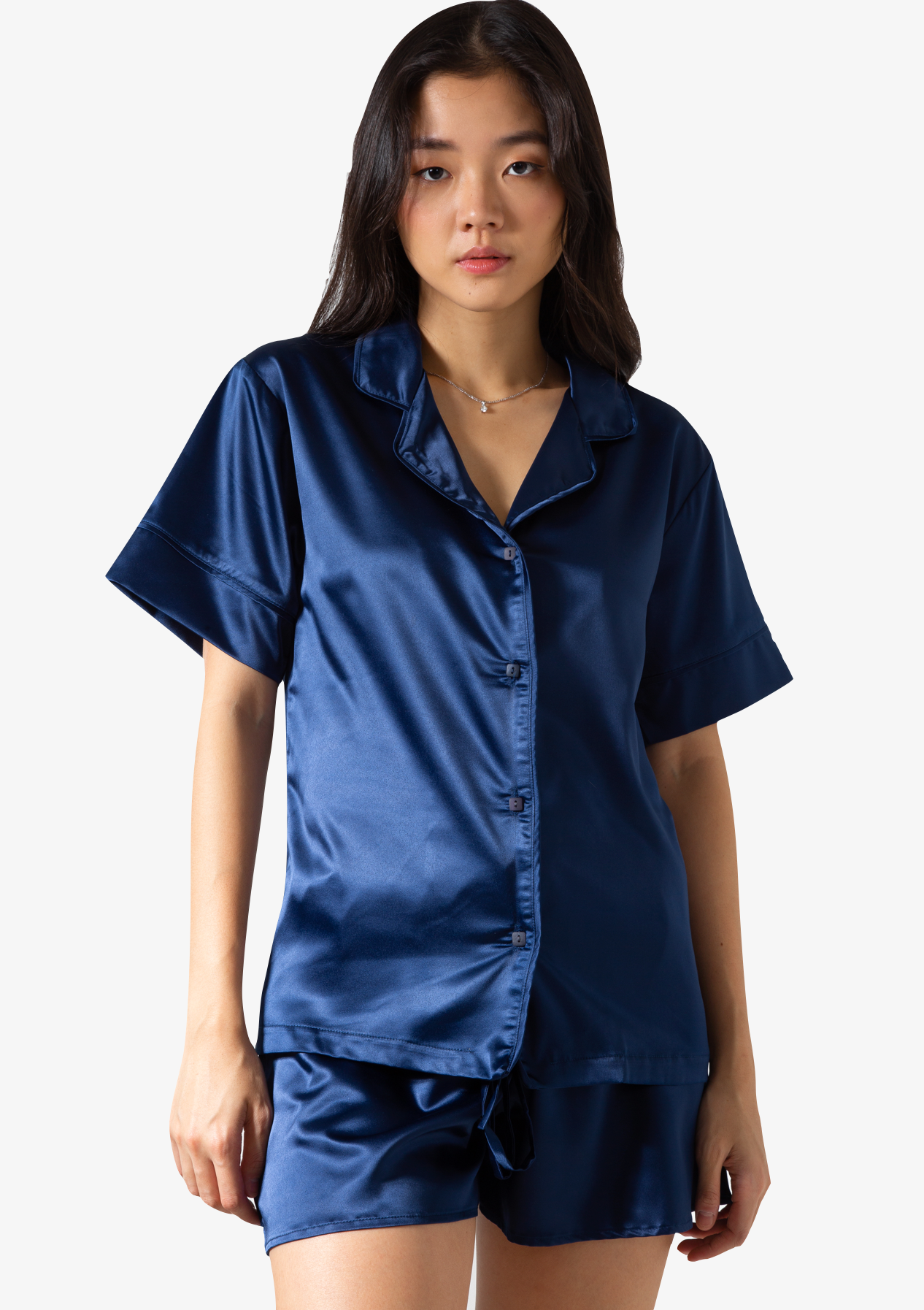 Short Silk Pyjama Top