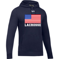 Sportabella Lacrosse USA Flag Under Armour Hustle Fleece Hoody