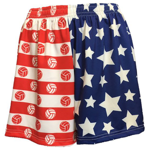 Sportabella USA Sublimated Volleyball Loose Shorts