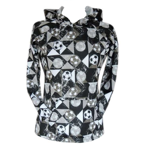 Sportabella Black Mosaic Sublimated Soccer Bella Hood