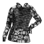 Sportabella Black Mosaic Linear Sublimated Soccer Bella Hood