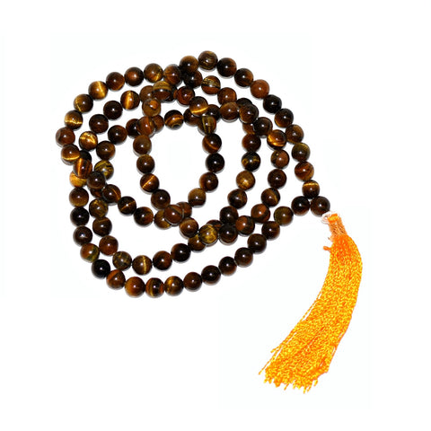 Tiger's Eye 108 Bead Mala 8mm