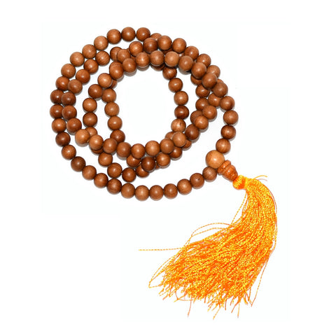Sandalwood 108 Bead Mala 8mm