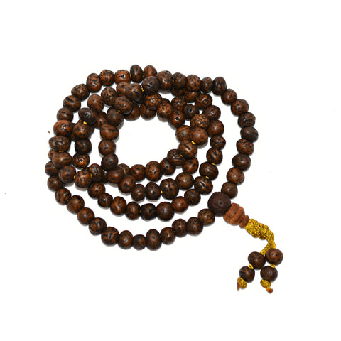 Rudraksha 108 Bead Mala Polished