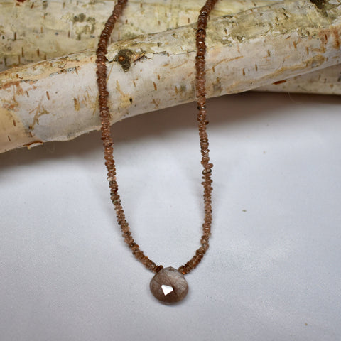 Andalusite & Rutilated Quartz Necklace