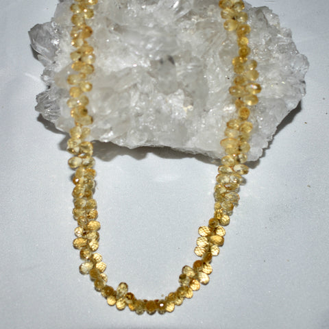 Citrine Faceted Drop Necklace