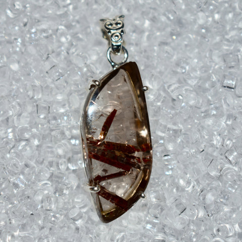 Epidote in Quartz Pendant
