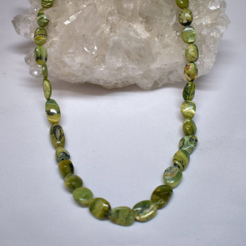 Green Opal & Serpentine Necklace