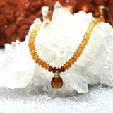 Hessonite Garnet & Brown Tourmaline Necklace