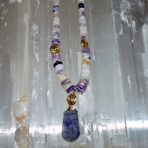 Iolite & Purple Opal Necklace